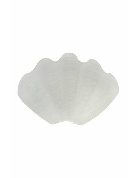 Glazen lampenkap, art deco schelp
