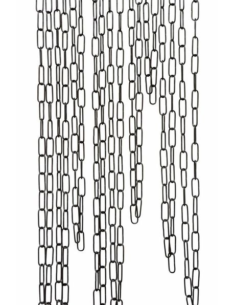 Black lamp chain, 4.0 x 1.5 cm chains