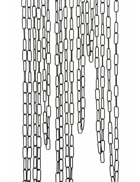 Zwarte Lampenketting, 4.0 x 1.5 cm Schakel