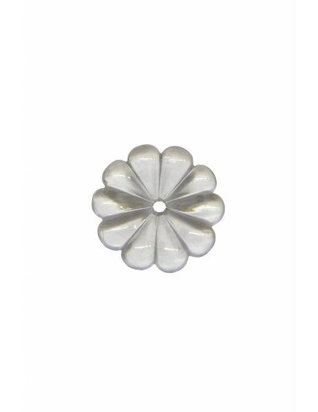 Chandelier parts, rosette, 2.5 cm / 1.0 inch diameter