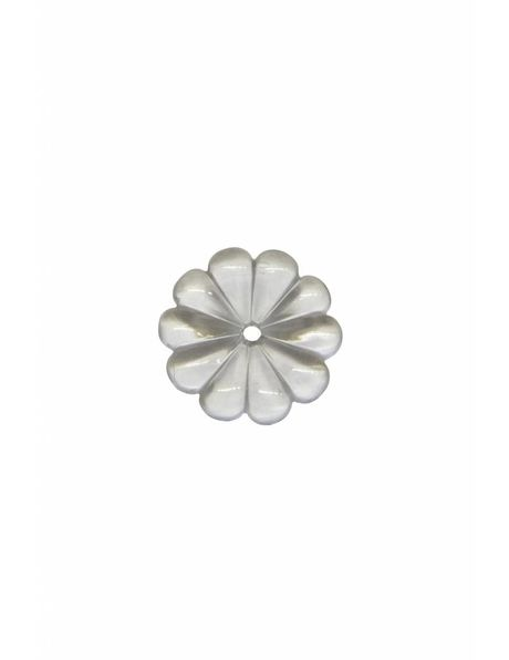 Chandelier parts, rosette, 1.0 cm / 0.39 inch diameter