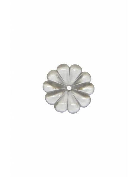 Chandelier parts, crystal glass rosette