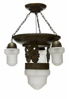 Copper Pendant Lamp 'Grapes'