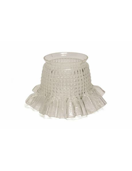 Small clear glass skirt lampshade, 1930s
