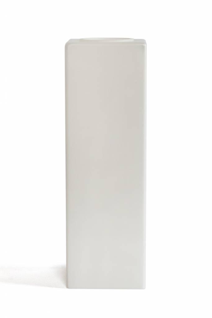 hele ranke, vierkante glazen lampenkap, witte kleur - lamplord