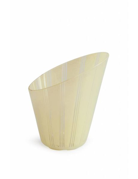 Slanted glass lampshade, vertical processing, 1950s