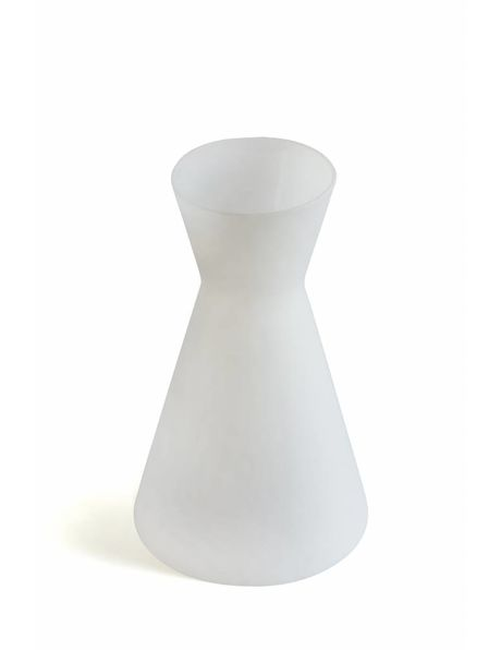 Milk-white glass lampshade, Diabolo shape, from the 1950s