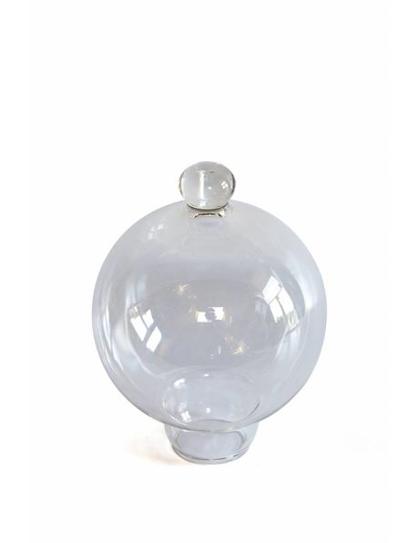 Lampshade, clear glass with knob on top, 1970s