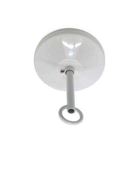 Compleet plafondkapje wit voor gebruik bij ketting
