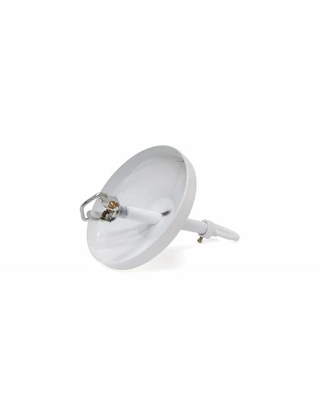 Complete ceiling plate, white, for use in combination with a lamp chain