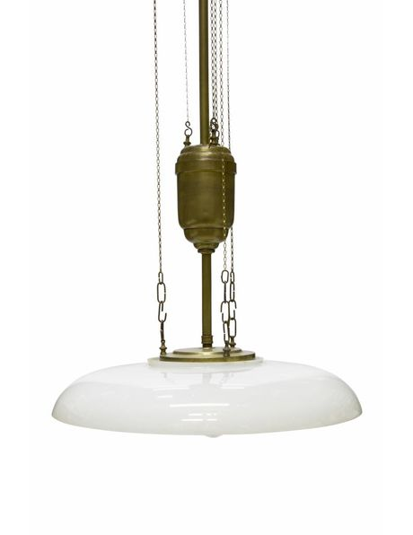 Classic pendant lamp with 4 light points and pull pendulum, 1930s