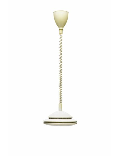 white hanging lamp, adjustable in height, 1960s