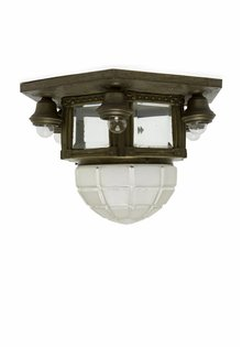 Classic Ceiling Lamp, Copper with Glass