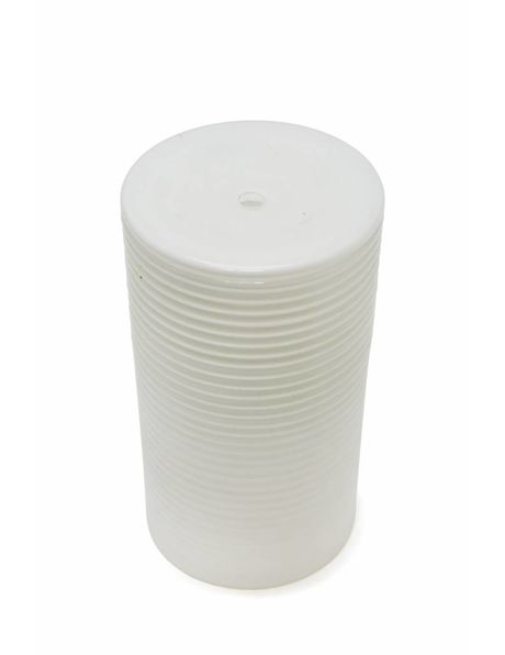 Cylindrical glass lampshade with rib