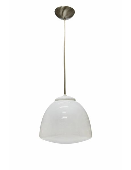 Industrial hanging lamp with tulip-shaped lampshade, 1940s