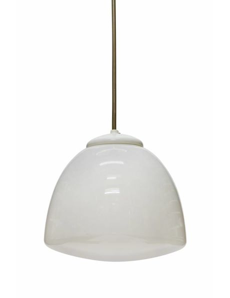 Industriele hanglamp met tulpvormige lampenkap, ca. 1940
