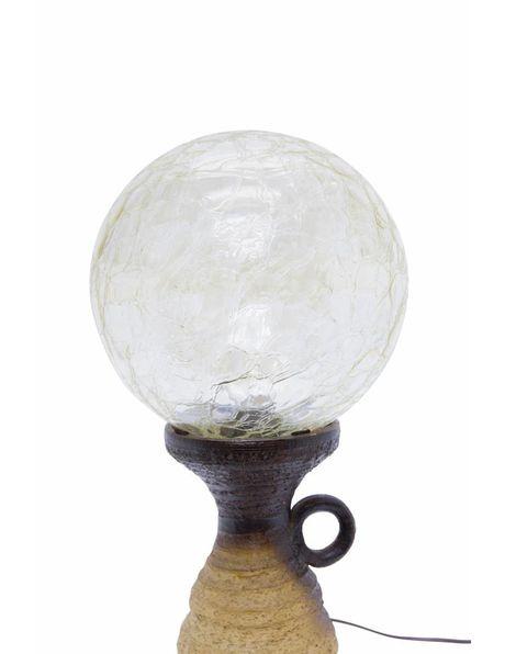 Table lamp with ceramic fixture and Doria Leuchten shade, 1960s