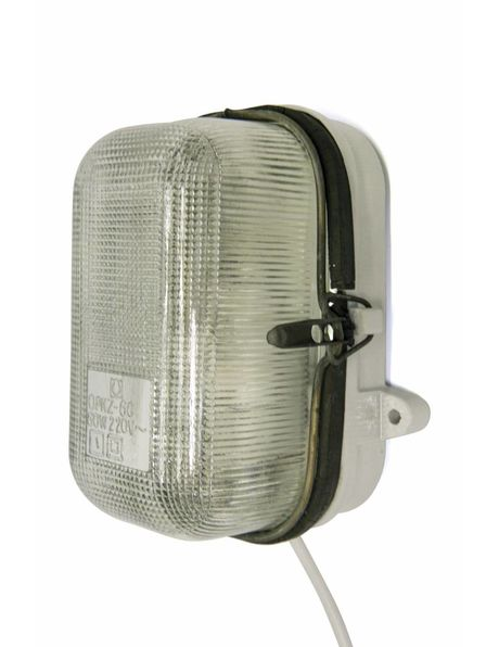 Industrial cage lamp, wall lamp: glass, metal porcelain, 1950s