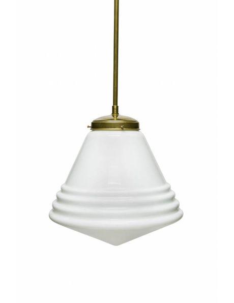 Glazen hanglamp, 'Phililite stijl', groot model ca. 1940