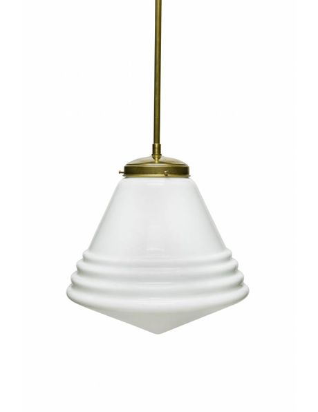 Glazen hanglamp, Phililite Style, groot model ca. 1940