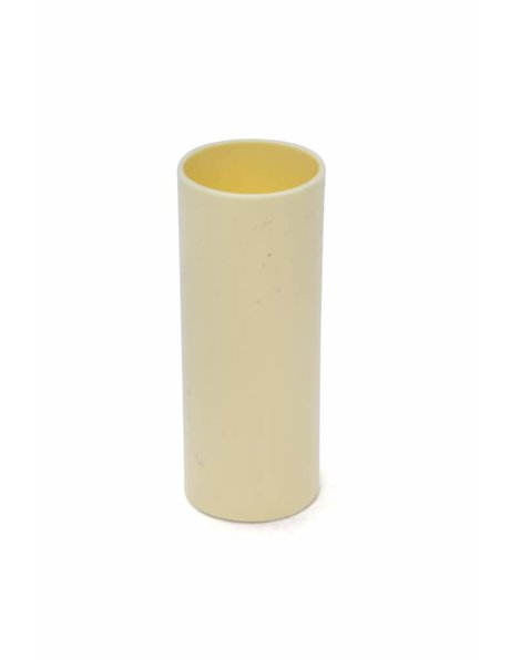 Sleek candle sleeve for an E14 fitting, cream