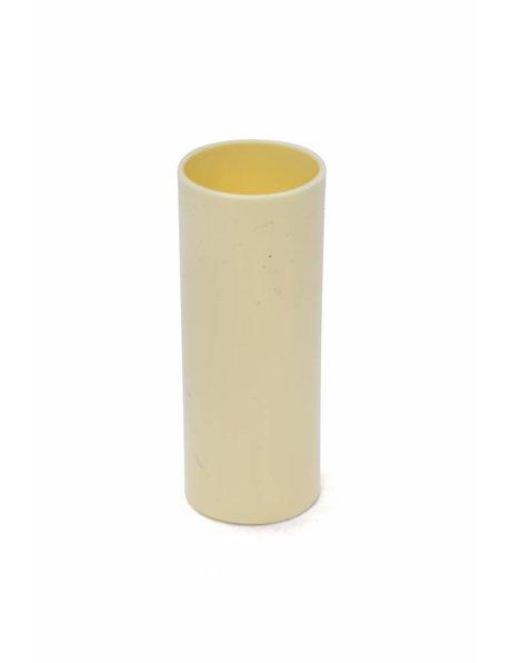Strakke kaarshuls voor een E14 fitting, crème