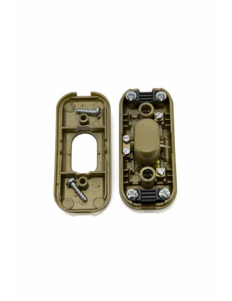 Gold coloured inline switch