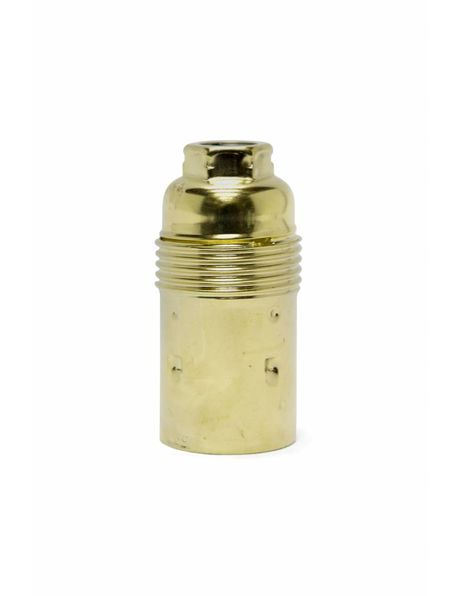 Brass colour lamp socket, metal, E14