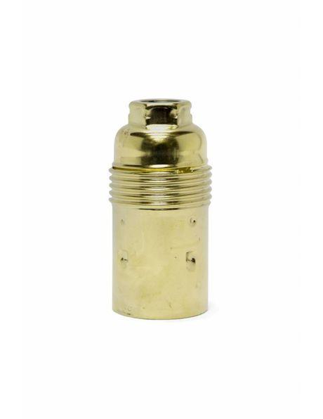 Goud kleurige lampfitting,  metaal, E14