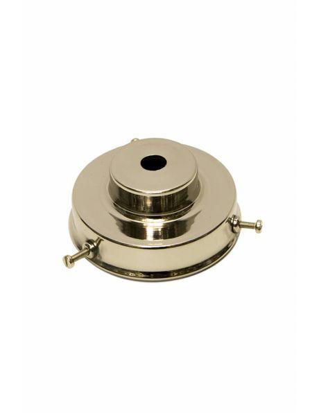 Nickel glamp glass holder, silver shiny colour, stepped model, hight: 3.2 cm, 7 cm outer diameter