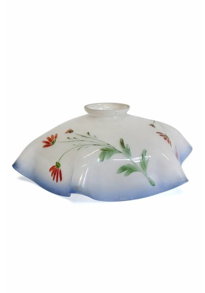 Glass Lampshade, with Flower on Stem