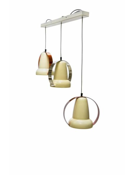 Hanglamp van met 3 omgebouwde Philips warmte lampen