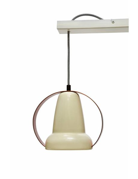 Hanging lamp with 3 converted Philips heat lamps