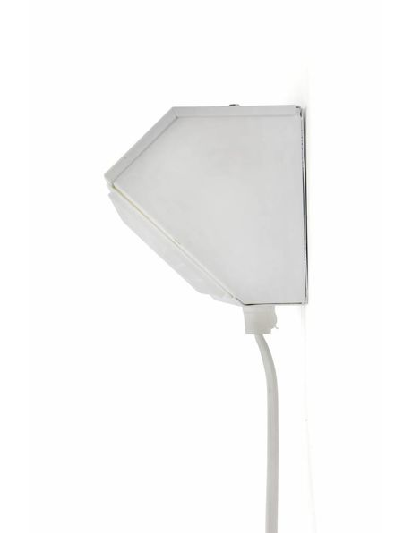 Classic children's room bedside lamp for the wall in the colour white, 1970s
