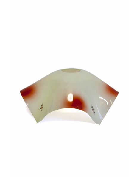 Retro lampshade, red-white