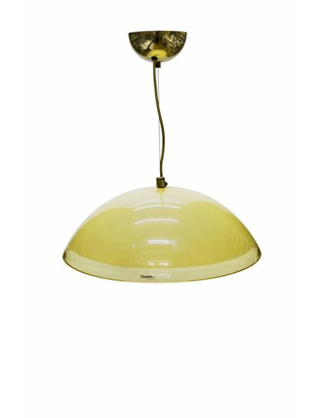 large perspex pendant lamp, Italian design, 1960s