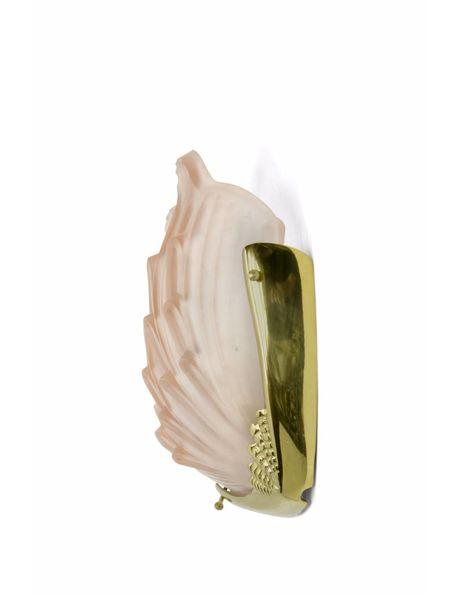 Art deco wall lamp in the shape of a shell, 1940s