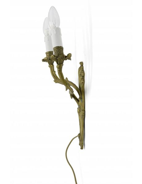 Classic wall lamp, copper torches, 1940s