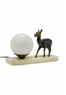 Small Table Lamp with Deer