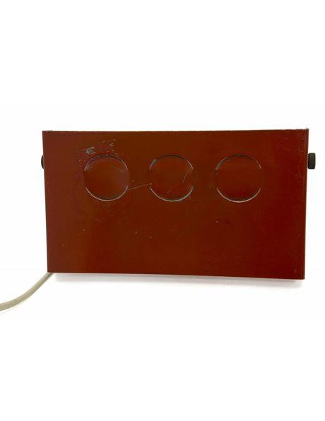Leeslampje, rood metaal van V&D