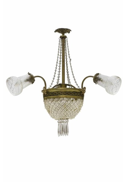 Antique Crystal Chandelier, Pocket Chandelier