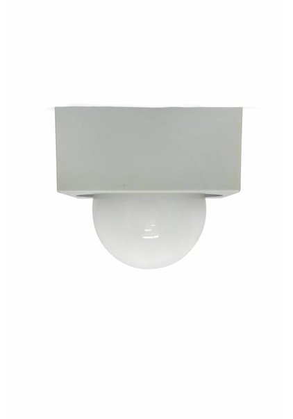 Ceiling lamp Square, Grey with White