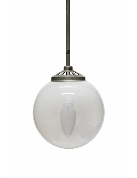 Industrial hanging lamp, shade glass, 1940s