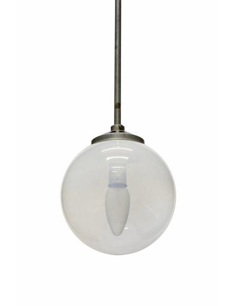 Industriele hanglamp, schaduw glas, ca. 1940