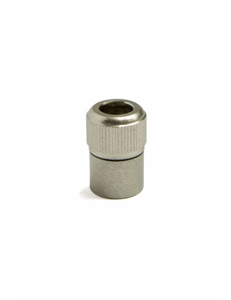 Solid Cord Strain Relief, matt nickel, M10 screw thread