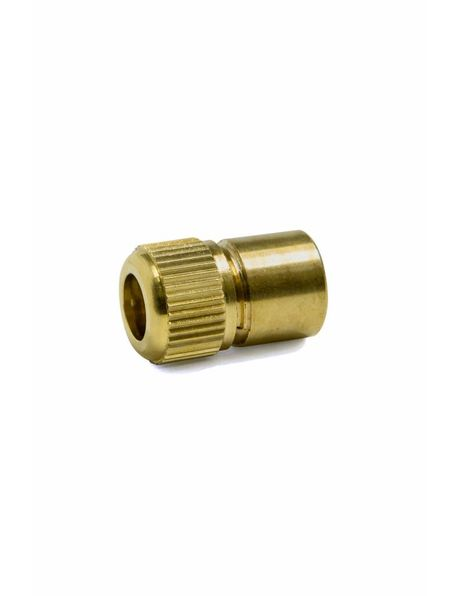 Luxury strain relief for lamp cord, brass