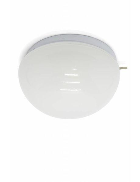Keuken plafondlamp, halve wit gekleurde bol, ca. 1950