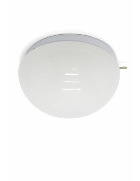 Kitchen ceiling lamp, white coloured half sphere, 50s.