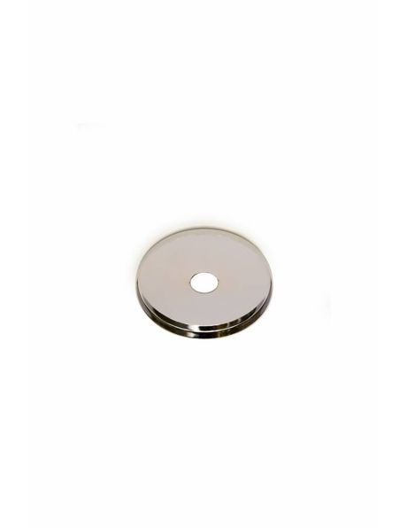 Chrome Shiny Round Cover Plate, Flat Model, Diameter 5 cm / 2 inch