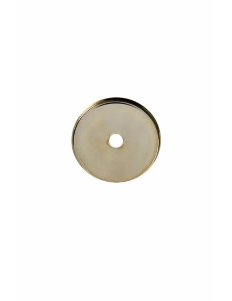 Cover plate, round, 6.0 cm / 2.4 inch, silver colour